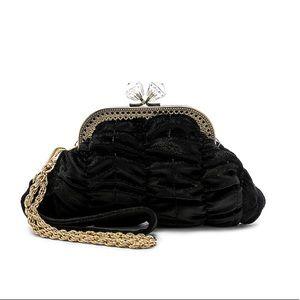 Handbags - House of Harlow black velvet diamond clutch
